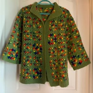 Handmade Rainbow Grandma Sweater